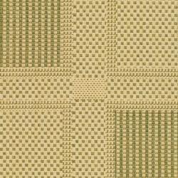 Poolside Natural/Olive Indoor/Outdoor Square-Patterned Rug (2' x 3'7