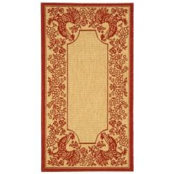 Safavieh Poolside Natural/ Red Indoor Outdoor Rug (2' x 3'7)
