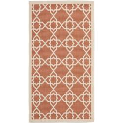 Safavieh Poolside Terracotta/ Beige Indoor Outdoor Rug (2' x 3'7)