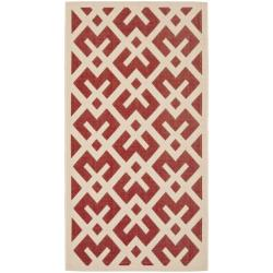 Safavieh Poolside Red/ Bone Indoor Outdoor Rug (2' x 3'7)