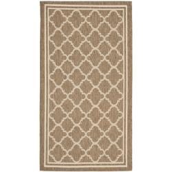 "Poolside Brown/Bone Indoor/Outdoor Polypropylene Rug (2' x 3'7"")"