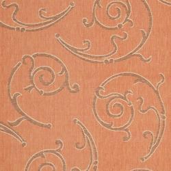 Safavieh Poolside Terracotta/ Cream Indoor Outdoor Rug (7'9 x 10'9)