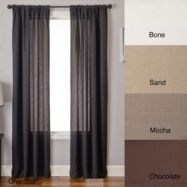 lucid 96 inch rod pocket curtain panel 14235874