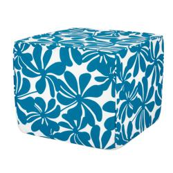 Brooklyn Turquoise 22-inch Square Outdoor Ottoman