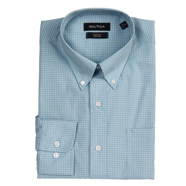 nautica men 39 s non iron classic fit dress shirt 14235896