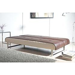 Seattle Brown and Cream Futon Sofa Bed