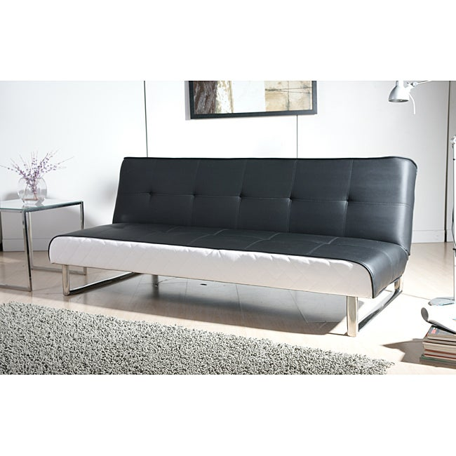 Seattle Black and White Futon Sofa Bed at Sears.com