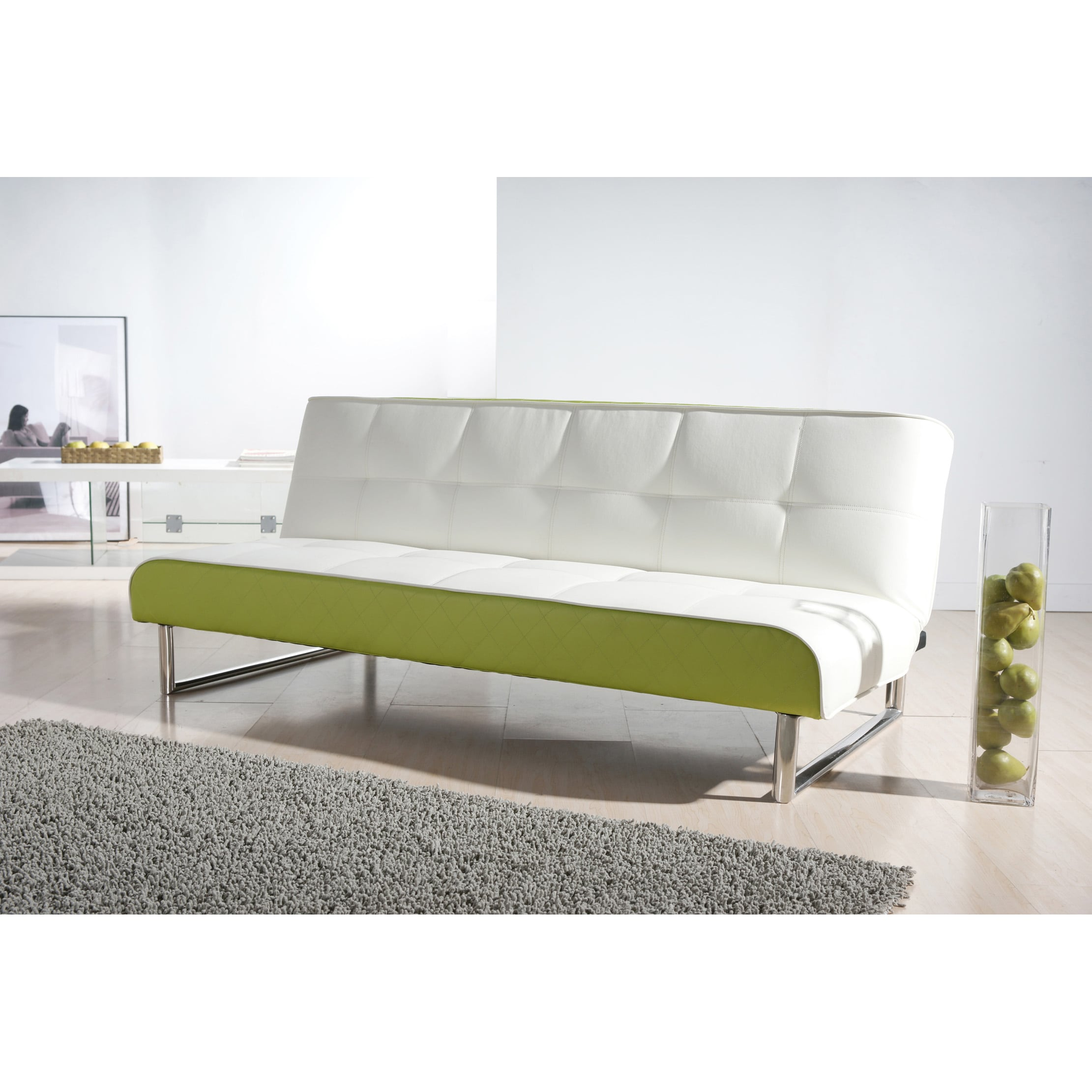 Seattle White and Green Futon Sofa Bed at Sears.com
