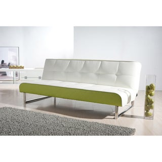 Seattle White and Green Futon Sofa Bed