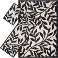Meticulously Woven Black Floral 3-piece Area Rug Set