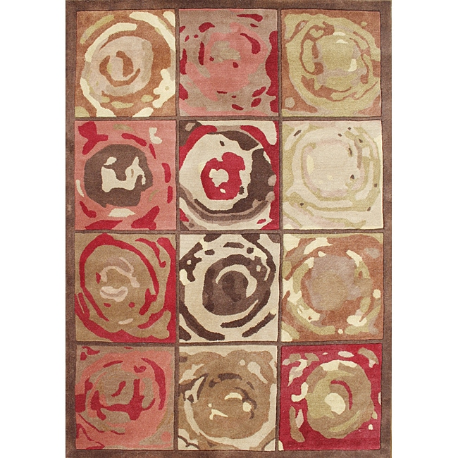 Alliyah Handmade Mocha Mousse New Zealand Blend Wool Rug (8' x 10')