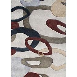 Alliyah Handmade Oatmeal New Zealand Blend Wool Rug (5' x 8')