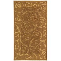 "Safavieh Poolside Brown/Natural Indoor/Outdoor Machine-Made Rug (2' x 3'7"")"