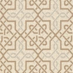 Poolside Beige/Dark Beige Bordered Indoor/Outdoor Rug (8' x 11'2)