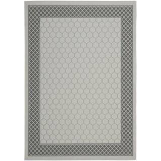 Safavieh Light Grey/ Anthracite Indoor Outdoor Rug (5'3 x 7'7)
