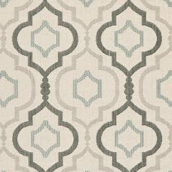 "Safavieh Poolside Beige/Dark Beige Indoor/Outdoor Bordered Rug (4' x 5'7"")"