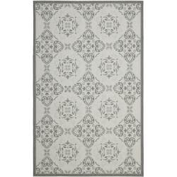 Light Grey/Anthracite Border Indoor/Outdoor Rug (5'3