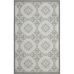 Light Grey/ Anthracite Indoor Outdoor Rug (6'7 x 9'6)