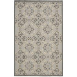 Light Grey/Anthracite Traditional-Motif Indoor/Outdoor Rug (8' x 11'2)