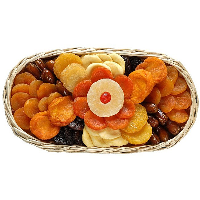 'Ole Time' Sun-dried Fruit Favorites Gourmet Food Basket (Two Pounds)