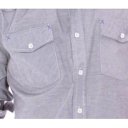 191 Unlimited Mens Gray Solid Woven Shirt