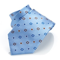 H. Luzzario And Co Light Blue Simbolini Tie