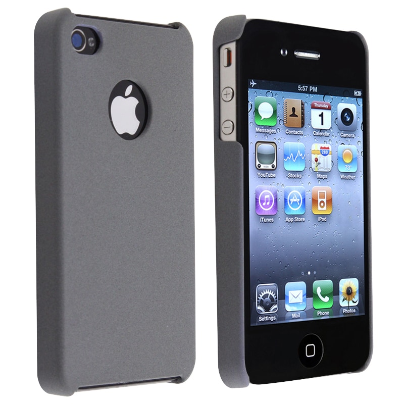Grey Matte Snap-on Case for Apple iPhone 4/ 4S