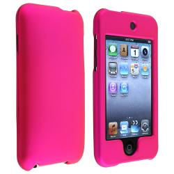Pink Snap-on Rubber Coated Case for Apple iPod Touch Generation 2/ 3