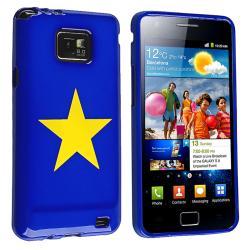 Blue/ Yellow Star TPU Rubber Skin Case for Samsung Galaxy S II i9100