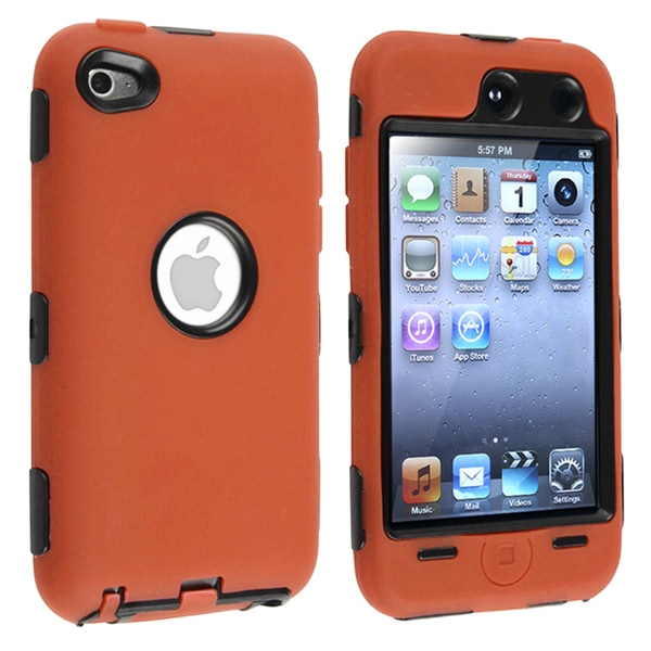 Black/ Orange Hybrid Case for Apple iPod Touch 4th Generation