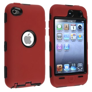 Black/ Red Hybrid Case for Apple iPod Touch 4th Generation