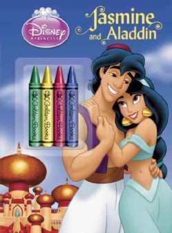 Jasmine and Aladdin Chunky Crayon Book Color Plus Chunky Crayons (Paperback)