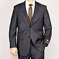 Giorgio Fiorelli Gray Striped 2-Button Suit
