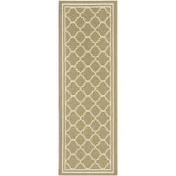 "Safavieh Poolside Green/Beige Indoor/Outdoor Polypropylene Rug (2'4"" x 9'11"")"