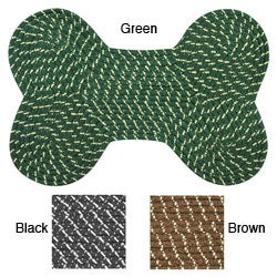Dog Bone Indoor/ Outdoor Braided Rug (14