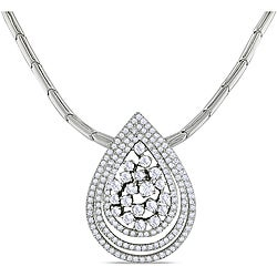 Miadora 18k White Gold 1 4/5ct TDW Diamond 16-inch Necklace (G-H, SI2)
