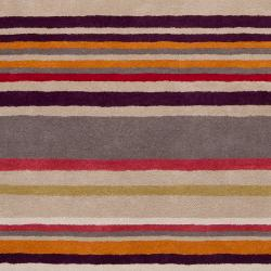 Harlequin Hand-Tufted Gray Opaque Striped Wool Area Rug (8' x 10')