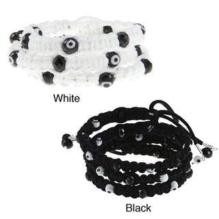 Evil Eye Macrame Twist Bracelet (Guatemala)