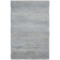 Candice Olson Hand-woven Gray Topaque Wool Rug (5' x 8')