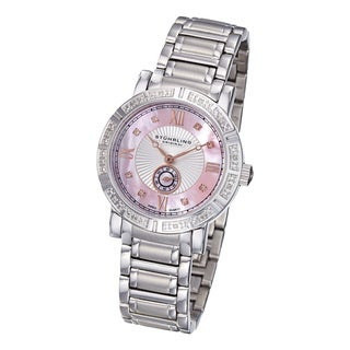 Stuhrling Original Women's Diamond Stainless-Steel Bracelet Watch