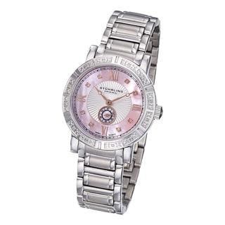 Stuhrling Original Women's Diamond Stainless-Steel Bracelet Watch