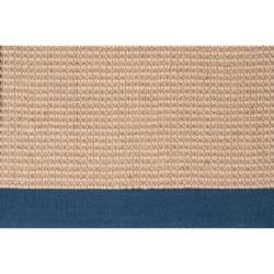 Hand-woven Navy Sophie B Natural Fiber Jute Rug (9' x 13')