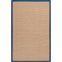 Hand-woven Navy Sophie B Natural Fiber Jute Rug (5' x 8')