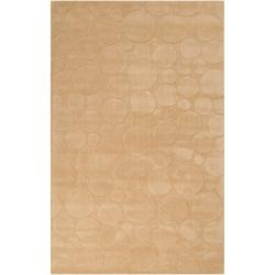 Candice Olson Loomed Tan Scrumptious Geometric Circles Wool Area Rug (9' x 13')