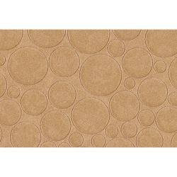 Candice Olson Loomed Tan Scrumptious Geometric Circles Indoor Wool Rug (5' x 8')
