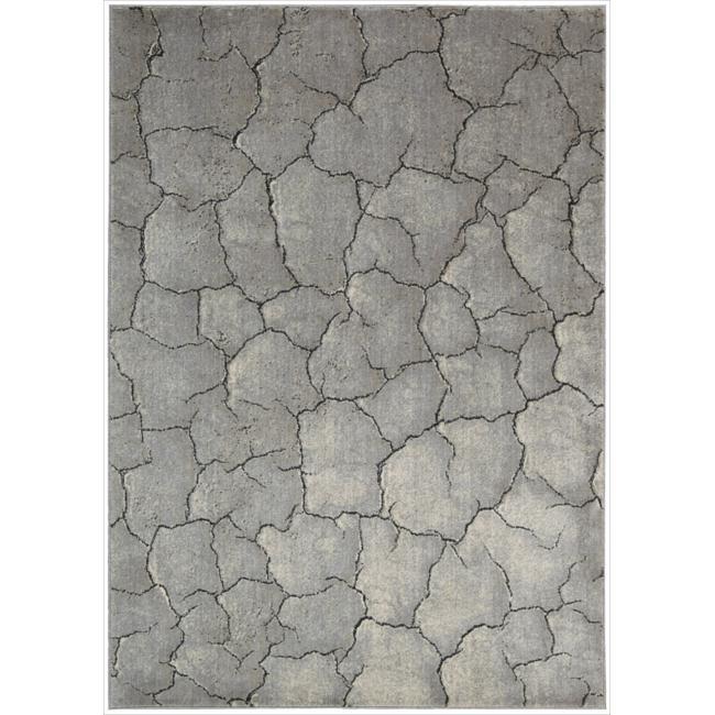 Nourison Utopia Grey Abstract Indoor Rug (2'6 x 4'2)