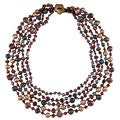 Multi-colored Freshwater Pearl Multi-strand Necklace (4-12 mm)