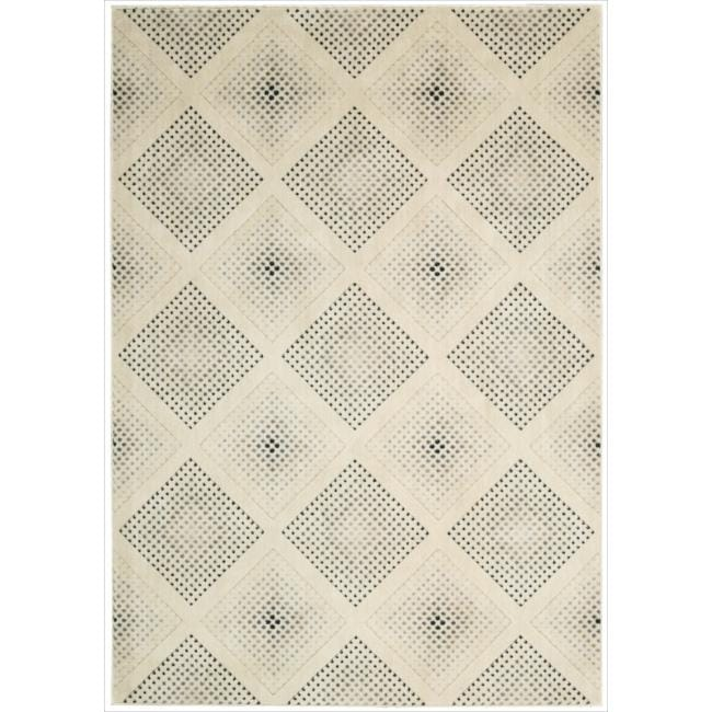 Nourison Utopia Beige Abstract Rug (2'6 x 4'2)