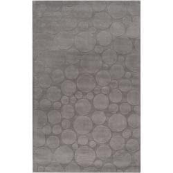 Candice Olson Loomed Gray Scrumptious Geometric Circles Wool Rug (5' x 8')
