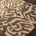 B. Smith Hand-woven Tan Sugarford Wool Rug (5' x 8')